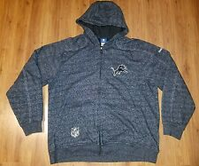 Reebok On Field DETROIT LIONS NFL Long Sleeve Full Zip Hoodie Sweatshirt Mens XL