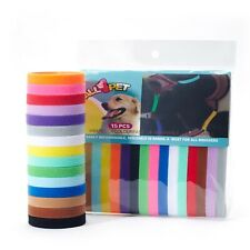 New 15 Colors Puppy Id Collars Whelping Dog Band Newborn Soft Fabric Adjustable