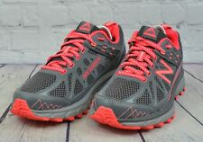 New Balance Womens Sneakers Trail Shoes All Terrain Running Gray Red Size 7.5