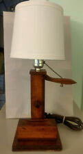 Lamp Mid-Century Modern Wood Pump Handle signed/dated by artist 1932
