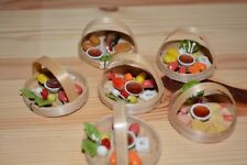 Dollhouse Miniature Japanese Food 6 Sushi Baskets #set5
