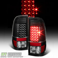 Black 2008-2016 Ford F250 F350 F450 SuperDuty LED Tail Lights Brake Lamps