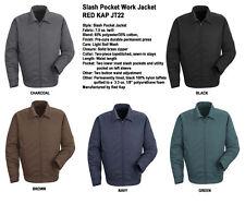 Red Kap JT22 Slash Pocket Uniform WORK JACKET Auto Mechanic