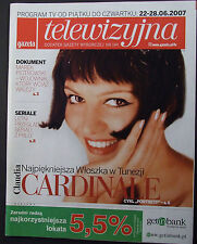 CLAUDIA CARDINALE magazine FRONT cover 2007, Poland Gene Hackman