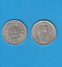 § Suisse Swiss Confédération Helvétique 1 Franc en argent 1961 Exemplaire N° 3