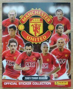 Panini Manchester United 2007/2008 Sticker Album - Excellent Condition (1 short)