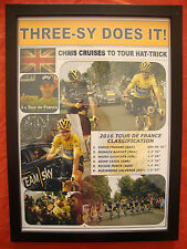 Chris Froome 2016 Tour de France winner - framed print