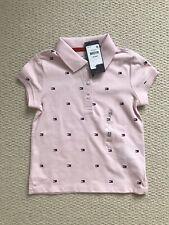 BNWT Tommy Hilfiger Pink Logo Short-sleeve Girls Kids Polo (Size XS, 4-5)