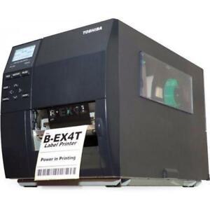 Toshiba B-EX4T1-GS12-QM-R Direct Thermal/Thermal Transfer LAN/USB Label Printer