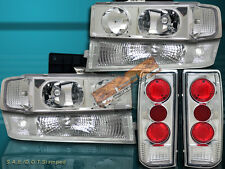 95-05 Chevy Astro Van Clear Headlights + Park Signal Lights + Tail Lights 6PCS