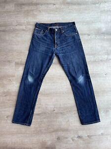 Nudie Jeans Fearless Freddie Dry Selvedge 33/32