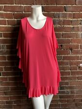 XS HOT BRIGHT PERFECT PINK RUFFLE COCO RAVE SWIMSUIT COVER UP LN EUC STRETCH 💓