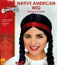 Native American Indian südwestlichen weiblich Mädchen Frauen Schwarz Haar Perücke Kostüm