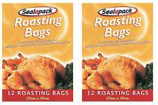 24 X bolsas grandes de asar cocinar las aves Turquía Horno mircowave Pollo Carne Pescado