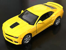 "Kinsmart 5"" 2014 Chevy Chevrolet Camaro Diecast Model Toy Car 1:38 Yellow"