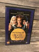 HOCUS POCUS (DVD, 2002) Bette Midler Sarah Jessica Parker 1993 Disney VG