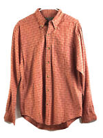 The Territory Ahead Button Down Shirt Mens Small Orange Long Sleeve Cotton New