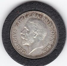 Sharp  1927   King  George   V   Silver  Shilling  -  British Coin