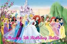 Personalised A4 Disney Princess Edible Wafer Paper Cake Topper