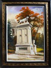 """University City Lion St.Louis"" oil on canvas, Irek T. Szelag listed artist"