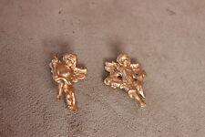 2 Engel gold aus Kunststoff