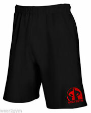 Cotton Blend Fitness Shorts for Men with Pockets