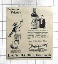 1931 The Antiquary Finest Old Scotch Liqueur Whisky JW Hardie Edinburgh