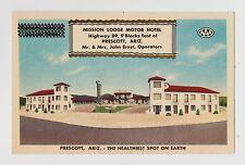 Prescott,Az.Mission Lodge Motor Hotel,Hiway 89,Yavapai Co.Roadside America,c'40s