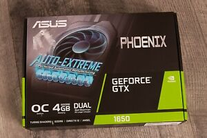 ASUS Phoenix NVIDIA GeForce GTX 1650 OC Edition 4GB GDDR6 GPU NEW