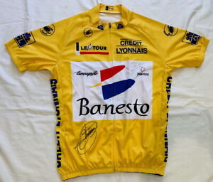 Miguel Indurain signed 1994 Tour de France yellow cycling jersey Banesto *PROOF*