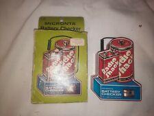 Vintage Radio Shack 9v & 1.5v Battery Checker in box Works!