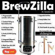 Robobrew / Brewzilla GEN 3.1 w/ Pump FREE  Robojacket,Chilling Kit & Hops