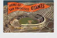 PPC POSTCARD CALIFORNIA SAN FRANCISCO CANDLESTICK PARK HOME OF GIANTS