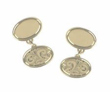 Unbranded Yellow Gold Oval Cufflinks for Men