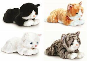 Keel Toys Signature 25cm Ginger Tabby White Black Cat Cuddly Plush Soft Toy