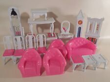 Vtg 1980s Blue Box Doll House Kit with Furniture Mostly Complete w/ Original Box