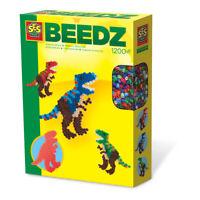SES CREATIVE Children's Beedz T-Rex Iron-on Beads Mosaic Set, 1200 Iron-on Beads