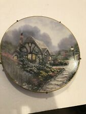 knowles collector plates Thomas Kinkade's Chandler's Cottage 1991 Plate #8476A
