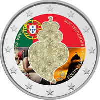 2 Euro Gedenkmünze Portugal 2016 coloriert / mit Farbe Farbmünze Olympiade Rio