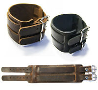 Lederarmband Herren Armband Leder breit schwarz braun Echt Leder