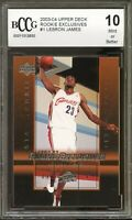 2003-04 Upper Deck Rookie Exclusives #1 LeBron James Card BGS BCCG 10 Mint+
