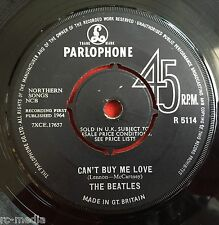 "THE BEATLES -Can't Buy Me Love/You Can't Do That- Original UK 7"" (Vinyl Record)"