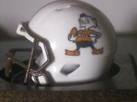 NFL Cleveland Browns Custom Helmet Speed Pocket Pro Mascot Logo Brownie the Elf