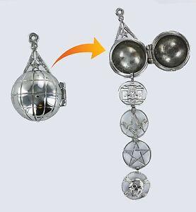 Rare Masonic ladder Orb - Solid Silver