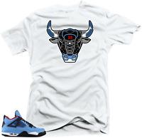 fa083fd0f59c Shirt to Match Jordan 4 Cactus Jack Sneakers.Bull 4 White Tee