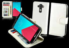 NEW White Leather ID Wallet Case Cover for LG G4 4G