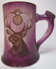 Antique Bpoe Elks Porcelain Tankard Mug National Art China Co Trenton New Jersey