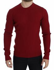 NWT $640 DOLCE & GABBANA Red Knitted Wool Crewneck Sweater Pullover IT44 / XS