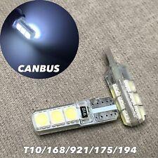 PARKING LIGHT No Canbus Error T10 W5W 168 175 194 2825 6 SMD LED WHITE bulb W1 J