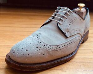 Allen Edmonds 'Player's Shoe' White Suede Nubuck Shortwing Wingtip Shoes 10D